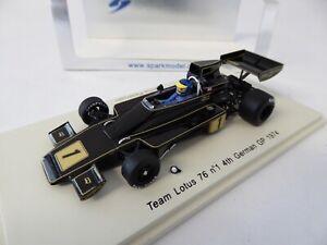 Team Lotus 76 F1 #1 German GP 1974 - 1:43 Spark Voiture Car S1843