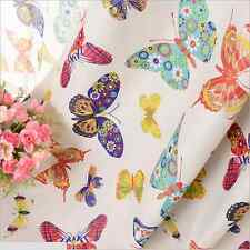 2 x Kids Room Solution Blockout Eyelet Curtains Butterfly Girl Baby 180cm - Pair