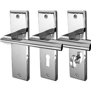 Delta Internal Door Handles Sets on Backplate Polished or Satin Chrome