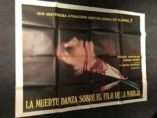 Dance Moves On A Razor Blade 1973 Argentinian Giant Movie Poster Horror Cult