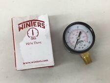 Winters PEM202 Steel Pressure Gauge Dual Scale 1-100 PSI NEW