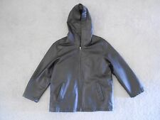Women's Metrostyle Leather Jacket Hooded Lined Small