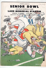 1955 6th Annual Senior bowl Collage Football