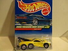 2000 Hot Wheels Treasure Hunt #50 Yellow Tow Jam w/Real Riders