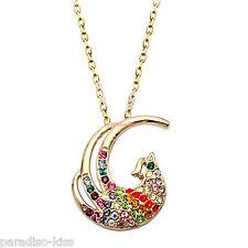Collana Donna Cristallo Swarovski elements Pavone Multicolore A127