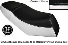 BLACK AND WHITE VINYL CUSTOM FITS LEXMOTO GLADIATOR 125 DUAL SEAT COVER ONLY
