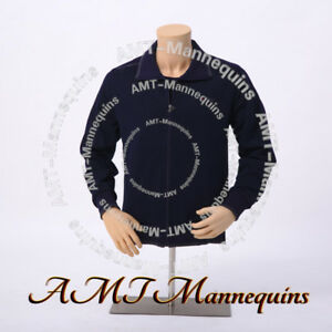 Male Mannequin Torso+stand, arms, Adjust Height, Display dress form Skin tone