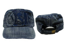 USAF United States Air Force Denim Washed Flat Top Embroidered Baseball Cap Hat