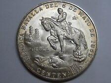 SILVER PUEBLA MEDALL BATALLA 5 DE MAYO 1862 MEXICO CENTENARIO