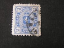 *FINLAND, SCOTT # 21, 20p. VALUE ULTRA 1875-82 COAT OF ARMS ISSUE USED
