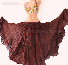 Brown 35 Yd  Skirt Gypsy Tribal Fusion Belly Dance ATS