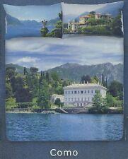 Completo copripiumino, 2 piazze, matrimoniale, Gabel Panet lago di COMO