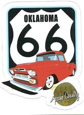 ROUTE 66 AND CHEVROLET APACHE PICKUP TRUCK Sticker Decal