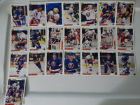 1991-92 Upper Deck UD New York Islanders Team Set of 22 Hockey Cards