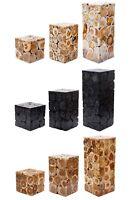 Beistelltisch Teakholz Holz Couchtisch Tisch Hocker Wohnzimmertisch Blumenhocker