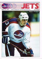 1987 Winnipeg Jets Home vs Toronto Maple Leafs NHL Hockey Program #67