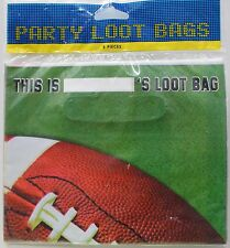 8 FOOTBALL PARTY BAGS Loot Birthday Party Favors Candy Kids Children Sports NEW