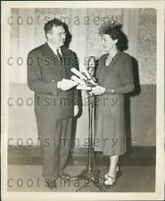 1948 Famed American Radio Announcer Milton Cross Press Photo