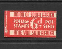 1937 King George V  SG SB11 6d. Booklet Complete MNH SOUTH AFRICA