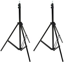 Aluminum Light Photography Tripod Stand with Case-Pack of 2, 2.8 - 6.7 Ft, Black