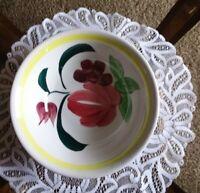 Vtg Fine Ironstone China Round Dish Serving Mixing Bowl Fruit Design