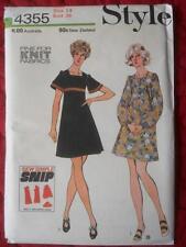 """VINTAGE 1970'S STYLE PATTERN 4355 DRESS 2 SLEEVE LENGTHS SIZE 14 36"""" 91.5 CMS"""