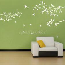 Wall Sticker Adesivo Parete Albero Uccelli NATURA Bianco 65x60cm Decorazione