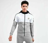 Kings Will Dream Mens Tracksuit Top Hoodie Poly Sweatshirt Jacket Gym Casual KWD