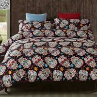 Skull Design Duvet Cover with Pillow Cases Gothic Quilt Cover Bedding Set UK