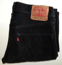 VTG Levis 501 XX ~ Men's~Button Fly ~ Black Jeans ~ Sz 32x32 Measured~Tag 34/32