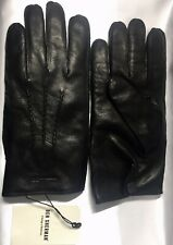 Ben Sherman Men's 100% Genuine Soft Black Leather Gloves 100% Wool Lining Size M