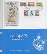 CERAMIC ART EUROPA FDC 1976 AND PRESENTAION PACK