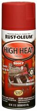 Rust Oleum 248908 Automotive 12 Ounce High Heat 2000 Degree Spray Paint Flat Red
