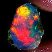 07.10 Cts Beautiful  Natural Ethiopian Welo Rough Opal of Play Fire  12X15X09MM