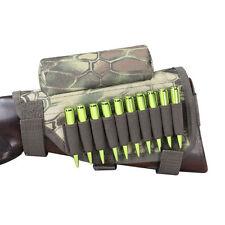 Tourbon Hunting Shooting Rifle Buttstock Cheek Riser Ammo Cartridge Holder Camo