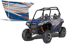 AMR Racing Graphic Wrap Kit Polaris RZR 800 UTV INC Door RZR 800 Decal BLUE FIRE