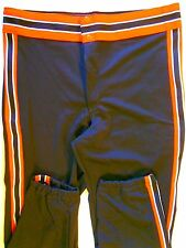 Nos Vtg 80s Rawlings Men's Baseball Pants Adult Small Black Orange White Usa