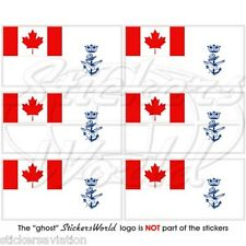 CANADA Naval Jack Maritime Command Flag Mobile Cell Phone Mini Sticker, Decal x6