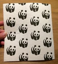 Swedish Panda dish cloth hostess housewarming gift  Finland WWF