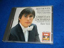 CD BEETHOVEN Klavierkonzerte Christian Zacharias HANS VONK Staatskapelle Dresden