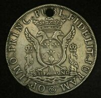 1760 Peru Silver Proclamation Medal Charles III Accesion to the Throne Rare Coin