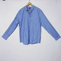 Witchery NWT Mens Size XL Blue Check Plaid Long Sleeve Button Up Shirt