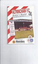Altrincham Teams A-B Football Non-League Fixture Programmes