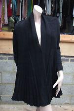 Whisper M/L Divine Black Knitted Long Sleeve Knit Swing Jacket / Coat / Sweater