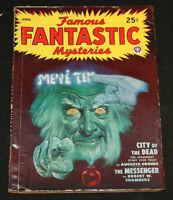 1948 Famous Fantastic Mysteries Pulp Digest Science Fiction Magazine Vol 9 #4 FN