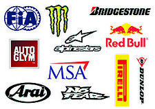 Racing Stickers Sheet / Red Bull Monster Dunlop MSA / Car Decals / Sticker Bomb