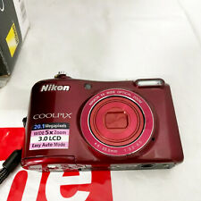 Nikon COOLPIX L28 12MP Digital Camera - Red (For Parts or Repair!) SOLD AS IS