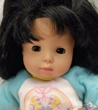 "Vtg Gotz Asian Baby Doll Corolle Sport Club Outfit Roller Skates Cloth Vinyl 14"""