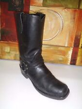 VINTAGE Men Guide Gear Harness Zippered  Motorcycle Black Boots Size 9.5D