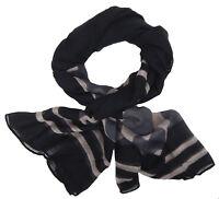 Damenschal schwarz beige grau by Ella Jonte leichter Fashion Schal Viskose new